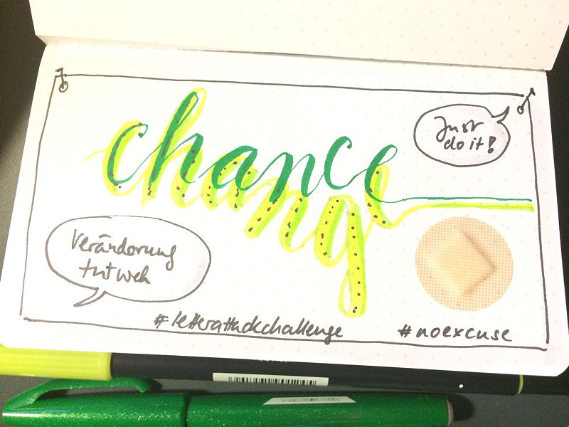 Lettering-Collage Change vs Chance